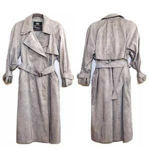 London Fog Vintage Trench Coat Green size 2 petite